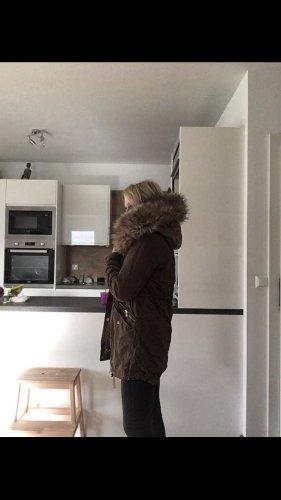 Übergangsjacke, Winterjacke Mantel m. Fellkapuze, 3 in 1! Innenjacke extra tragbar