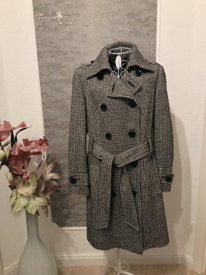 Blacky Dress Between-Seasons-Coat black-white