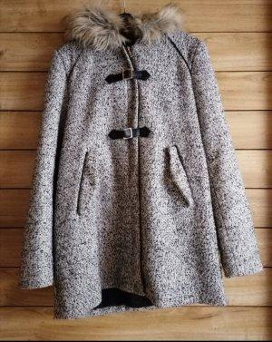 Forever 21 Duffle-coat blanc-noir