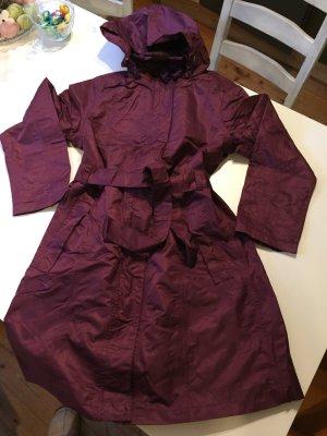 Płaszcz przeciwdeszczowy purpurowy-brązowo-fioletowy