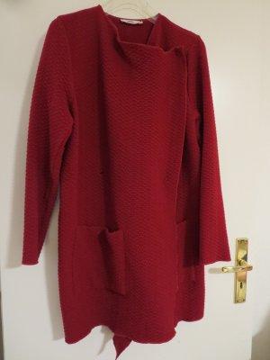 0039 Italy Manteau mi-saison rouge foncé laine
