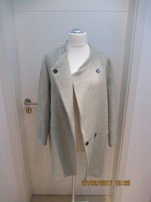 Uebergangsmantel Huellenmantel von Zara in wolligem Stoff in hellgruen pastel von Zara in Groesse L Mantel Kurzmantel