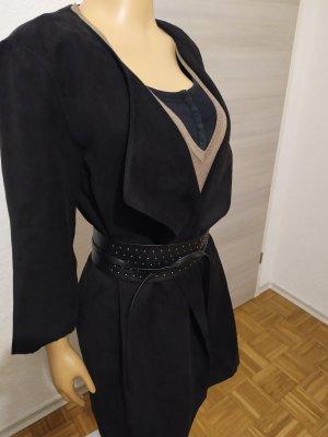Übergangsmantel Mantel Übergangsjacke W-lederoptik lang minimalistisch H&M sold out  M