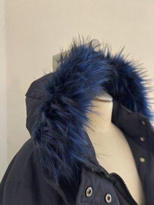 Carnabys Oversized jas donkerblauw-neon blauw