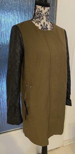 H&M Abrigo acolchado ocre-negro