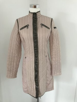 Sport Alm Quilted Coat dusky pink-dark brown