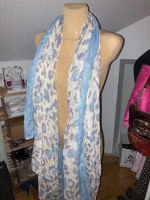 Übergroßes Tuch, super weich, in blau beige