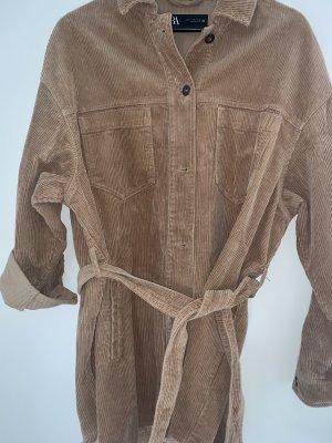 Überhemd aus Kord mit Gürtel