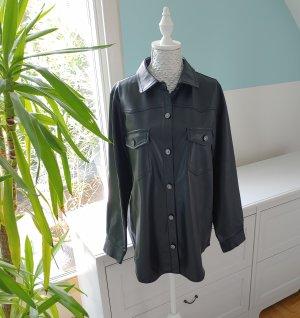 Zara Skórzana koszula czarny