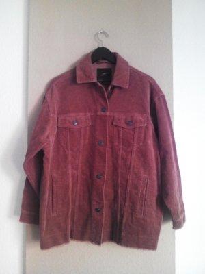 Überhemd in dukelrosa aus Kord, 100% Baumwolle, Größe S Oversize, neu