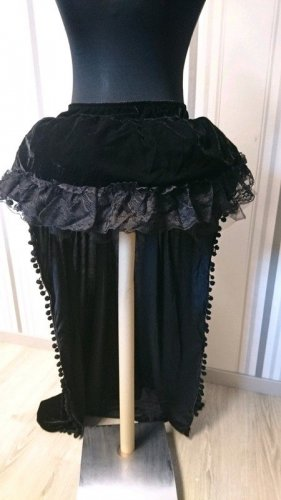 Overskirt black mixture fibre