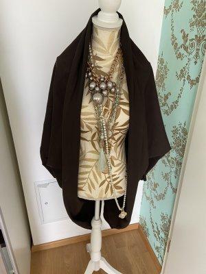 Abrigo corto marrón-negro