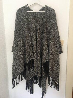 Poncho grijs-zwart