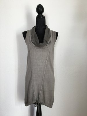 Replay High Low Dress silver-colored