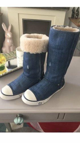 UGG Laarzen met bont blauw