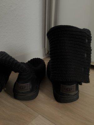 UGG Australia Buty zimowe czarny Wełna