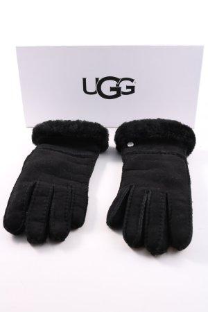 UGG Australia Gants en cuir noir style décontracté