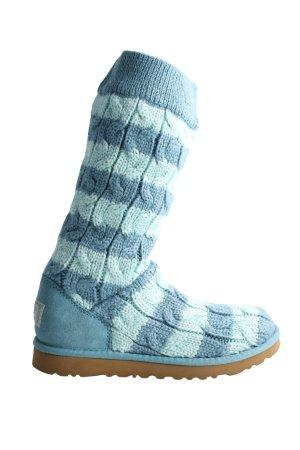 UGG Australia Schaftstiefel türkis-blau Streifenmuster Casual-Look