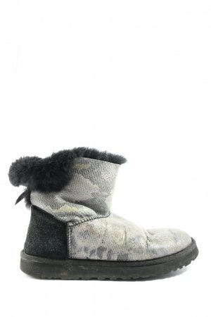 UGG Australia Slouch Boots black-light grey animal pattern casual look