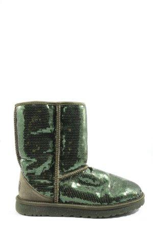 UGG Australia Stivaletto arricciato cachi-verde stile casual