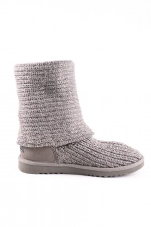 UGG Australia Snowboots hellgrau Zopfmuster Casual-Look