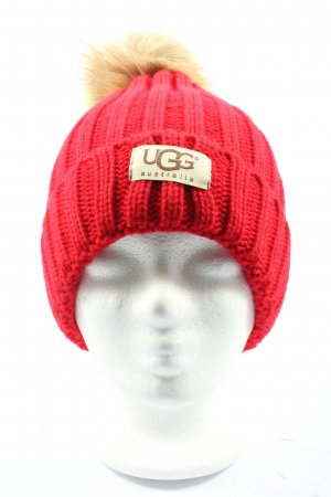 UGG Australia Knitted Hat red casual look