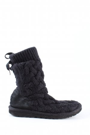 UGG Australia Winter Boots black cable stitch casual look