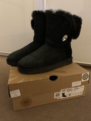 UGG Botas de nieve negro Cuero