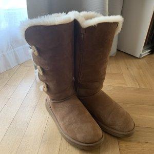 UGG Australia Botas de piel coñac-marrón Cuero