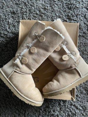 UGG Australia Laarzen met bont licht beige