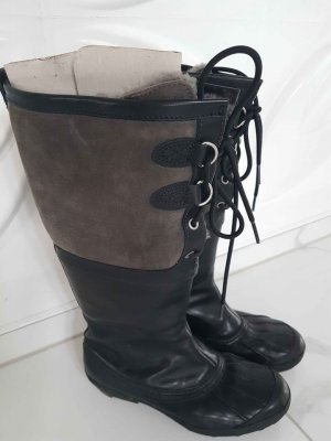 UGG Australia Stivale in pelliccia nero-argento Pelle