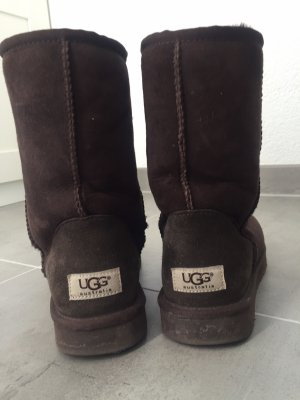 UGG Australia Fur Boots dark brown