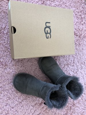 UGG Booties dark grey suede