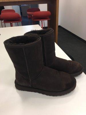 UGG Australia Botas de nieve marrón oscuro Piel