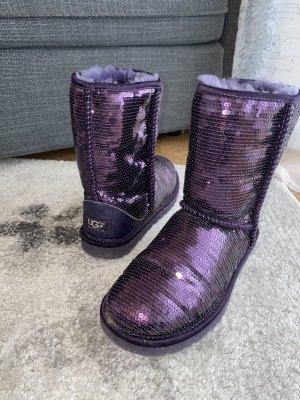 Ugg Boots Glitzer Lila in 37