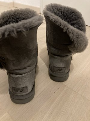 UGG Snow Boots dark grey leather