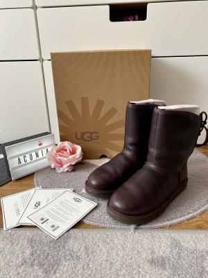 Ugg Boots Leder dunkelbraun Größe 36