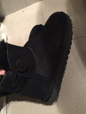 Ugg Boots Mini Bailey Button schwarz