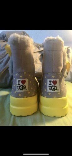 UGG Buty śniegowe jasnoszary-żółty