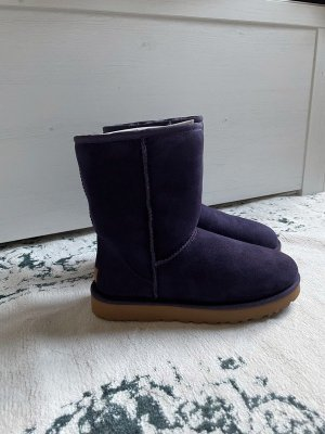 UGG Futrzane buty ciemny fiolet