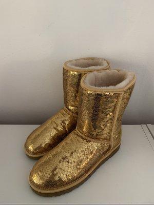 Ugg Boots Pailletten Sparkle Gold Neu