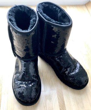 UGG Australia Futrzane buty czarny Moher
