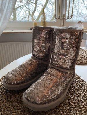 Ugg Boots Silber mit pailetten 37