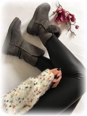 UGG Boots western gris-gris foncé pelage