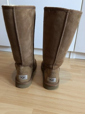 UGG Australia Fur Boots bronze-colored leather