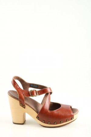 UGG Clog Sandals brown-bronze-colored casual look