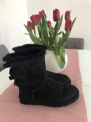 UGG Winter Booties black mixture fibre