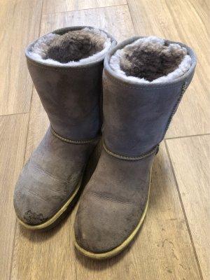 UGG Australia Bottes de neige gris-jaune fluo