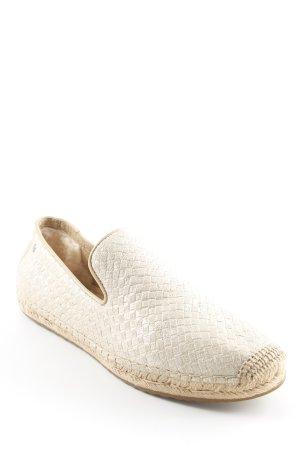 UGG Espadrilles-Sandalen goldfarben-beige Glitzer-Optik