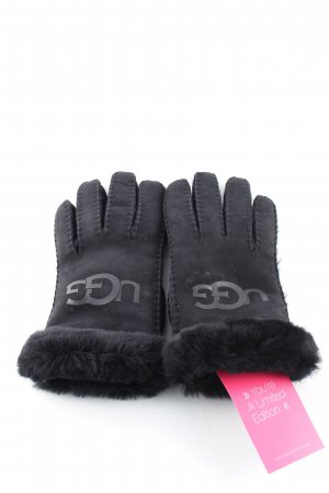 UGG Fur Gloves black casual look